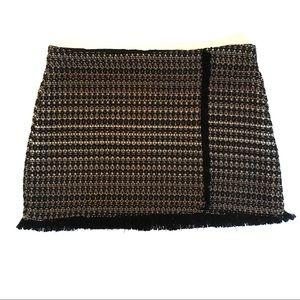 Zara Trafaluc Collection Tweed Mini Skirt XL